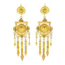gold chandelier earrings antique gold chandelier earrings for sale at 1stdibs