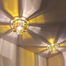 modern crystal gallery light led indoor lights multiple trimless