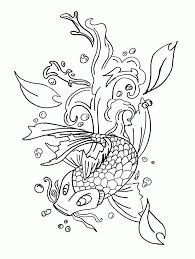 coy fish coloring pages coloring home