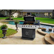 Brinkmann 2 Burner Gas Grill Review by Grill King 5 Burner Gas Grill With Side Burner Black Walmart Com