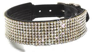 tiger tapered swarovski crystals collar large collar