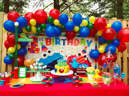elmo party supplies sesame party supplies and ideas balloon decoration ideas