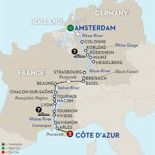 Black Forest Germany Map Rhine And Rhone Cruise Amsterdam To Arles