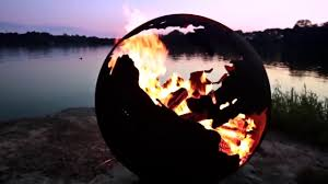 Fire Pit Globe by Fire Pit Art Third Rock Globe Shaped 36