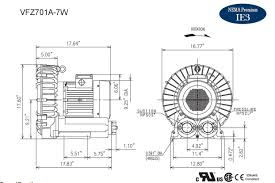 vfz701a 7w fuji regenerative blower 6 7 hp 208 230 460 volts
