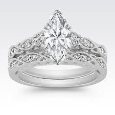 diamond wedding sets vintage diamond wedding set with pavé setting at shane co my