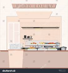 food court food shopping mall flat stock vector 517764784