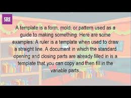 what does template mean in technology youtube