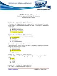 Mgt503 Principles Of Management Final Term Papers Solved Mcqs