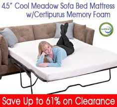Sofa Bed Mattresses Deluxe Sofa Bed Mattress With Memory Foam