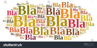 illustration word cloud about bla bla stock illustration 285272537