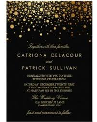 and black wedding invitations big deal on faux gold foil confetti black wedding invitation 5 x 7