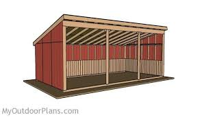 Outdoor Wood Shed Plans by Loafing Shed Plans Myoutdoorplans Free Woodworking Plans And