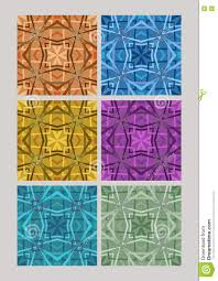 different colors of purple set of geometric cubist patterns tiles in different color variants