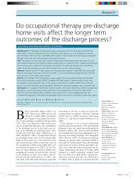 do occupational therapy pre discharge home visits affect the
