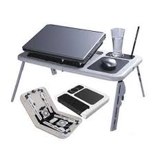 sg portable laptop stand foldable e table with 2 usb cooling fans