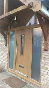 Solid Timber Front Doors by Stained Front Door Dark Solid Oak Doors With Glass Contemporary