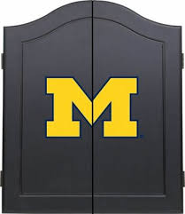black dart board cabinet sports fan michigan wolverines black dart board cabinet