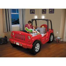 Little Tikes Jeep Wrangler Toddler To Twin Convertible Bed Red