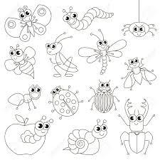 Les Petits Insectes Mignons Sont Colorés Le Grand Livre à Colorier