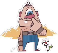 cute cyclops monster masco clip art library