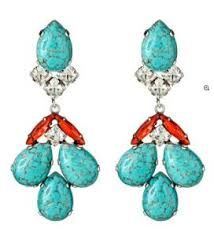 turquoise bridal earrings michael michael kors drop pave slice turquoise earrings
