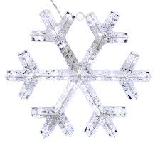 shop holiday living 1 75 ft hanging snowflake with twinkling white