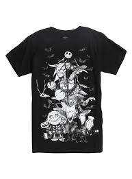 the nightmare before characters sketch t shirt topic