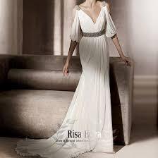 store custom famosa greek goddess chiffon sleeves slim v neck