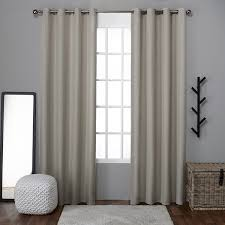 Linen Curtains With Grommets Ati Home Grommet Top Loha Linen Window Curtain Panel Pair Free