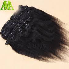 Yaki Clip In Human Hair Extensions by Unprocessed 8a Brazilian Virgin Hair Clip In Human Hair Extensions