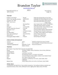 Acting Resume Builder Film Crew Resume Template Template Design