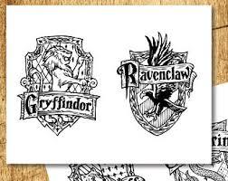 harry potter printable hogwarts house crest banners