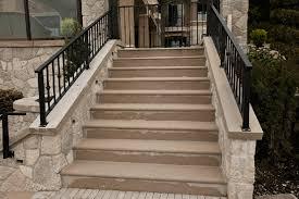 limestone steps bedrock natural stone