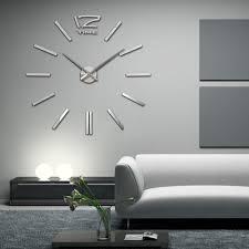 Decorative Metal Wall Clocks Aliexpress Com Buy Recommend Quartz Diy 3d Wall Clock 20 Inch