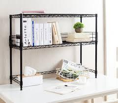 Metal Bookcase Desktop Metal Bookshelf Black