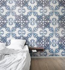 blue and orange portuguese tiles wallpaper wallpaper kitchens