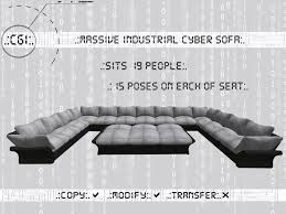 seat sofas second marketplace cgi industrial cyber sofa