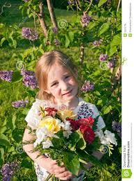 flowers in garden images little cute with flowers in garden royalty free stock image
