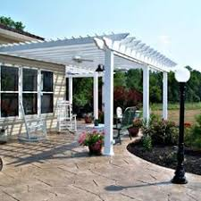 White Vinyl Pergola Kits by Great Use Of Narrow Space Along Side This Salt Lake City Pool
