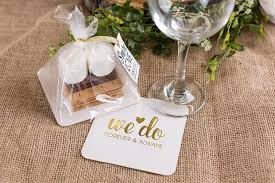 wedding coasters favors diy s mores wedding favors weddinglovely