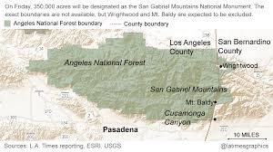 San Gabriel Map Obama To Publicly Name San Gabriel Mountains A National Monument