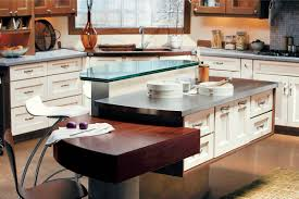 Wood Island Tops Kitchens Kitchen Exciting Modern Wood Kitchen Decoration With Glass Block