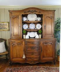 antique french country hutch cupboard buffet carved dark oak