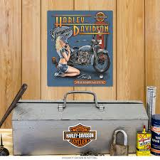 Harley Home Decor by Harley Davidson Mechanic Pin Up Tin Sign Garage Decor