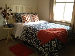 orange and navy bedroom house upgrades pinterest navy