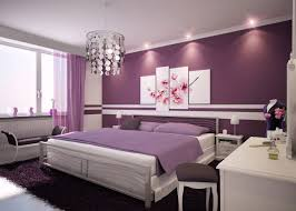 interior simple purple theme bedroom using stripes sheets trundle