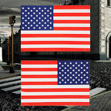 Us Flag Decal 2pcs Lot American Flag Sticker For Car Window Laptop Motorcycle