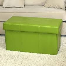 Overstock Ottomans Folding Storage Bench Innovative Green Storage Ottoman Green