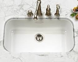 Houzer Porcelain Enameled Steel Kitchen Sinks - White undermount kitchen sinks